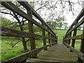 ST3100 : Footbridge Across the River Axe by Nigel Mykura