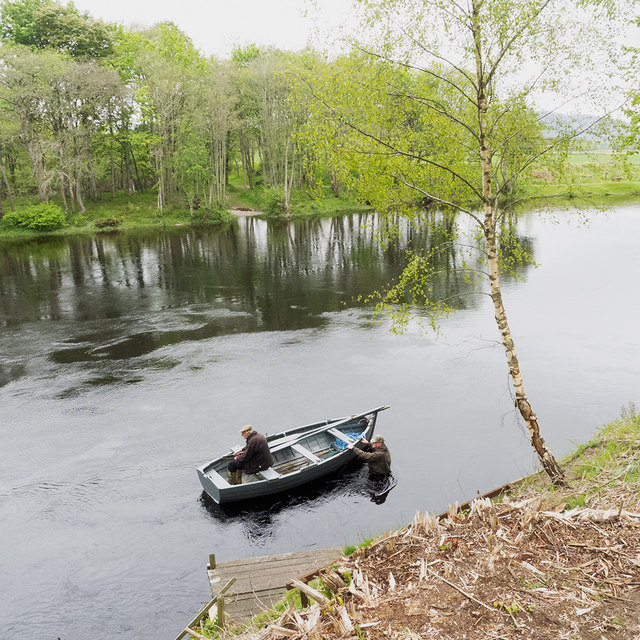 Fishing for salmon on the River Conon, Brahan Estate