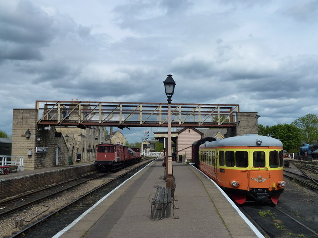 On the platform of Wansford Station
