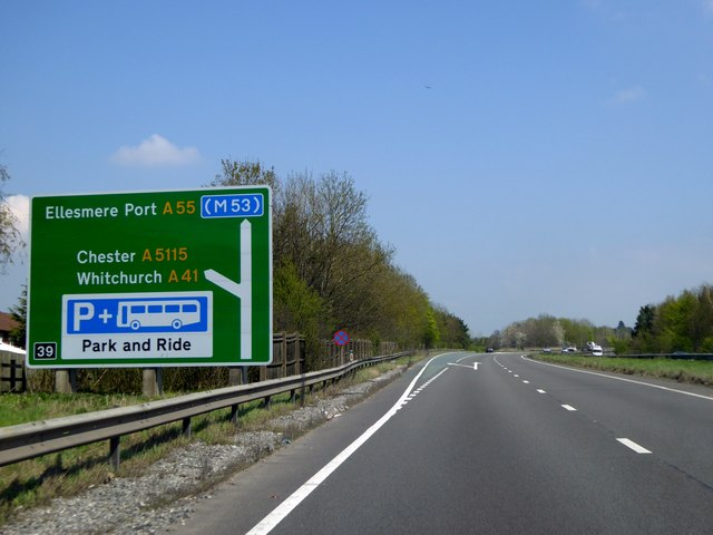 Sign for Chester on Chester bypass