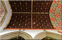 SK8608 : Oakham: All Saints' Church: The Chancel ceiling by Michael Garlick