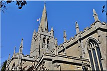 SK8608 : Oakham: All Saints' Church: The tower and spire by Michael Garlick
