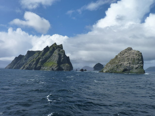 Sea stacks north of Hirta