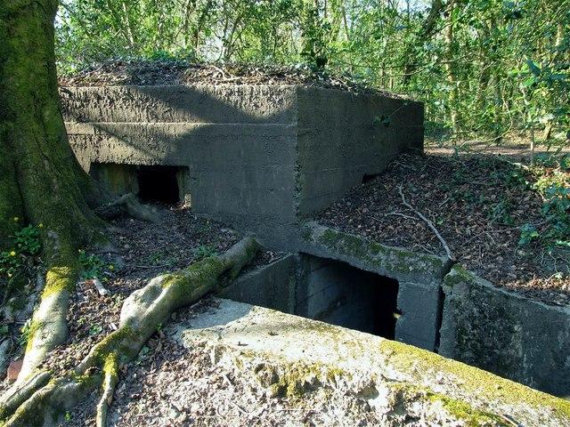 Entrance to pillbox on east side of Clyne railway cutting