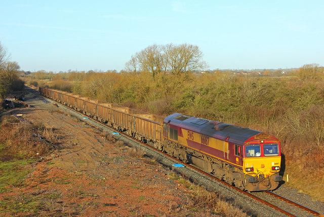 Freight train at Waddeston