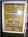 SN0717 : Llanwhaden Church - fishing notice by welshbabe