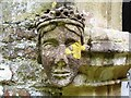 SN0717 : Llanwhaden Church - carved head on porch by welshbabe