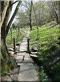 SE0722 : Elland FP2 crossing a little stream, Greetland by Humphrey Bolton