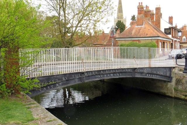 The Iron Bridge over the River Ock