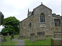 SK4665 : St John The Baptist Ault Hucknall by Monica Stagg