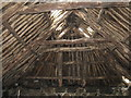 NL9443 : Tiree black house roof construction by M J Richardson
