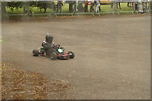 TQ3470 : View of a go-kart racing around the makeshift track at National Sports Centre by Robert Lamb