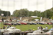 TQ3470 : View of classic cars at the National Sports Centre #4 by Robert Lamb