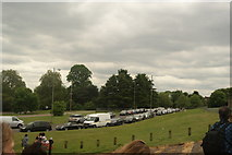 TQ3470 : View of the entrance road into the National Sports Centre from Crystal Palace Park by Robert Lamb