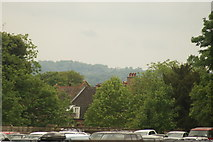 TQ3370 : View of a house on Westwood Hill from the Crystal Palace terrace by Robert Lamb