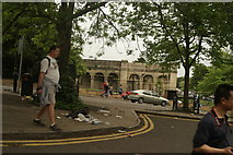 TQ3370 : View of the end of the Crystal Palace terrace from Ledrington Road by Robert Lamb