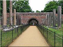 SU9768 : Re-erected Roman ruin, Windsor Great Park by Robin Webster
