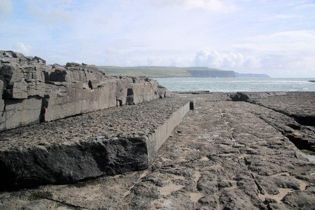 Raised limestone platforms at Doolin