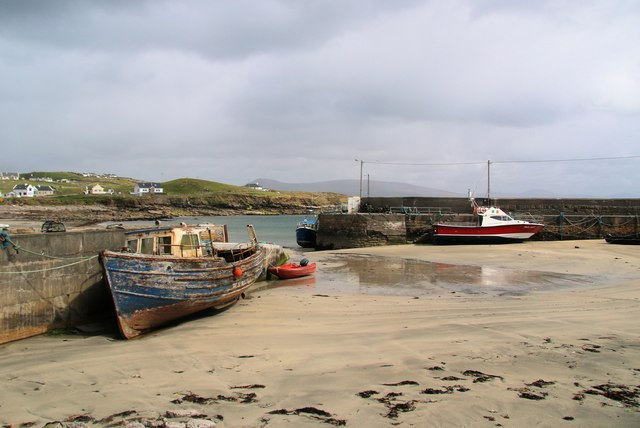 Clare Island harbour at low water