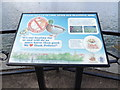 TM1179 : Information sign at The Mere by Adrian Cable