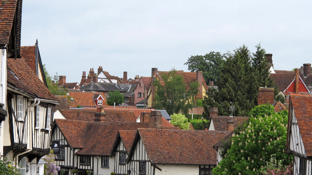 Medieval rooftops, Lavenham
