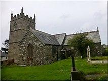 SW4538 : Parish Church of St Senara by Rude Health
