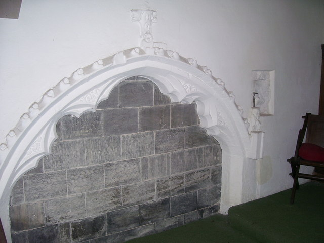 Rhoscrowther Church - recess by altar