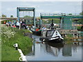 TL1697 : Narrow boats at Orton Lock on the River Nene by Paul Bryan