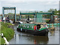 TL1697 : Narrow boat at Orton Lock on the River Nene by Paul Bryan