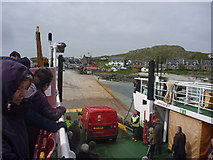 NM2824 : Coastal Argyll : Arrival At Iona Slipway by Richard West