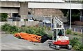 J3474 : Digger and pipes, Bridge End, Belfast (May 2015) by Albert Bridge