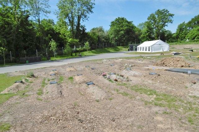 Kemnal Park, Muslim graves