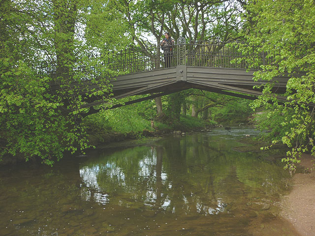 Iron bridge over the River Lyvennet, Crossrigg Hall