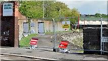 J3674 : Closed Connswater path, Belfast (May 2015) by Albert Bridge