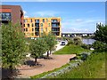 ST3187 : Apartments beside the River Usk by Robin Drayton