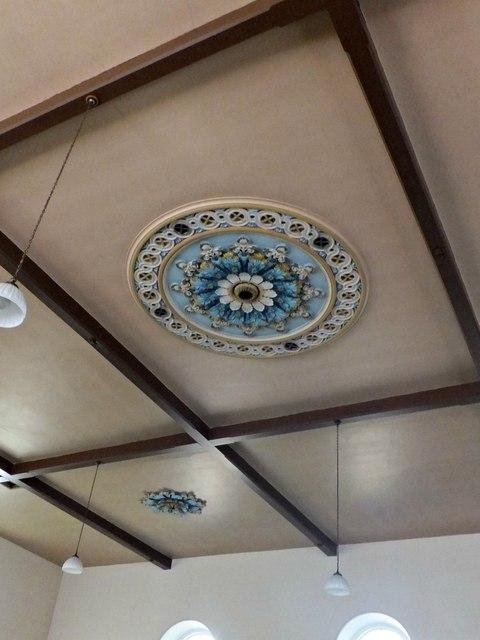 Ceiling decoration in Zion Chapel, Rowen