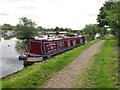 TQ0588 : Narrowboat Alicia on Grand Union Canal, Harefield by David Hawgood