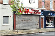 "J3674 : Former ""AJM"" camera shop, Belfast (May 2015) by Albert Bridge"