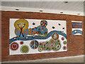TQ0171 : Magna Carta mosaic, Egham (2) by Stephen Craven