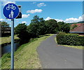 ST0381 : Riverside footpath and cycleway, Pontyclun by Jaggery
