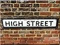 TR1854 : Vintage street nameplate, High Street, Bridge by Chris Whippet