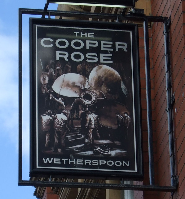 Sign for the Cooper Rose
