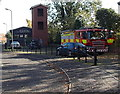 SO8540 : Rapidly boarding a fire engine in Upton-upon-Severn by Jaggery