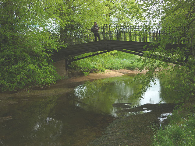 Iron bridge over the Lyvennet near Crossrigg Hall