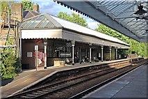 SD9926 : Platform 2, Hebden Bridge railway station by El Pollock