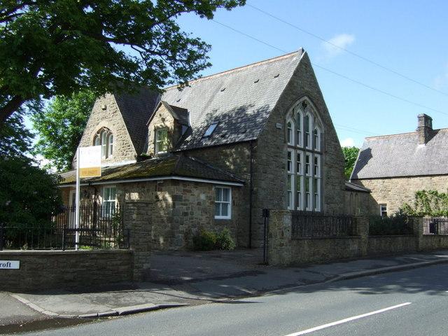 Old schoolhouse on Broomside Lane