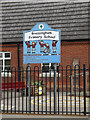 TM0781 : Bressingham Primary School sign by Adrian Cable