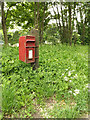 TM0780 : A1066 Low Road & The Chequers Postbox by Adrian Cable