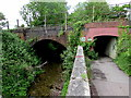 SU3521 : Double bridges on the east side of Duttons Road, Romsey by Jaggery