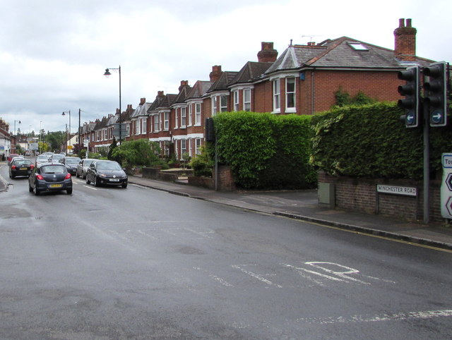 Western end of Winchester Road, Romsey